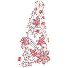 Flores adorno - Ponchados para bordados