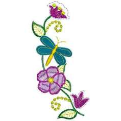 Flor primaveral - Embroidery design