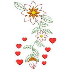 Flower hearts - Matrices para bordados