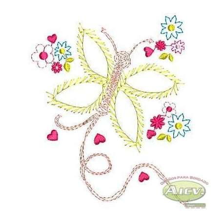 Mariposa fantasía - Embroidery design