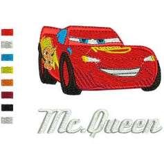 Rayo McQueen - Picajes para bordados