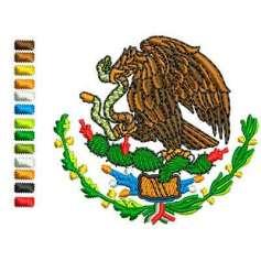 Eagle shield Mexico in colors 5 cm -