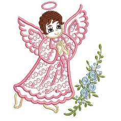 Angel flores - Embroidery design