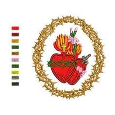 Inmaculado Corazón de María 3 - Matriz de bordado