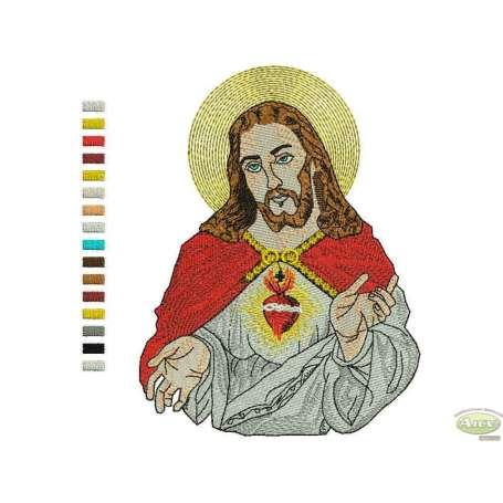Jesús Sagrado Corazón - Ponchado