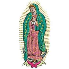 Our Lady of Guadalupe 7 cm - Matrices para bordados