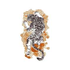 Oriental Tiger - Matrices para bordados