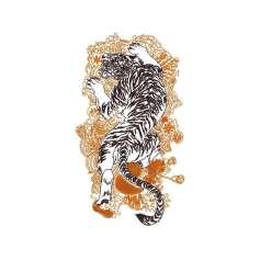 Tigre Oriental - Picajes para bordados