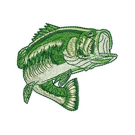 Bass Fish - Embroidery