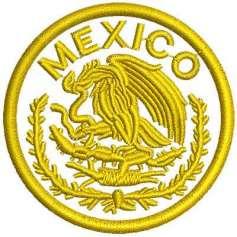 Circulo Escudo México 6 cm.