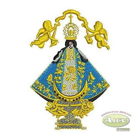 Our Lady of San Juan de los lagos 10 cm - Bordados