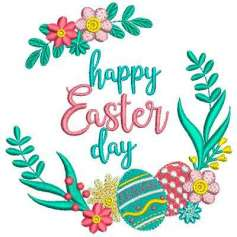 Feliz Pascua - Embroidery design