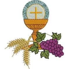 Cáliz con uvas - Picajes para bordados