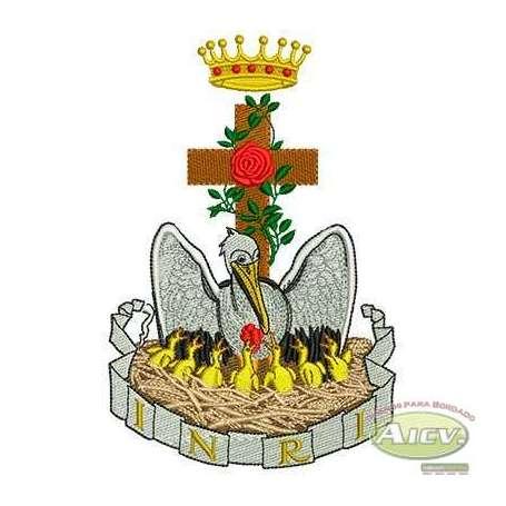 Pelican liturgical ornament -