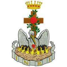 Pelícano ornamento litúrgico - Matriz de bordado