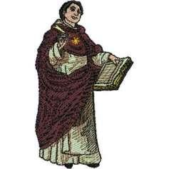 St. Thomas Aquinas 10 cm. - Picaje