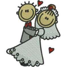 Wedding couple - Matrices para bordados