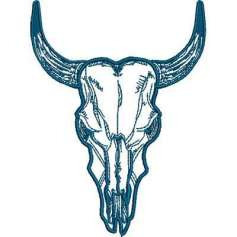 Cráneo Toro - Ponchados para bordados
