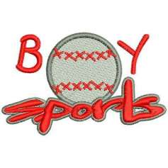 Boys Sport baseball - Embroidery