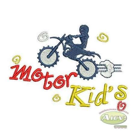 Motor Kids Motorcycle - Matrices para bordados