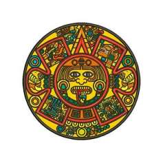 Aztec Calendar in Colors 20 cm. - Embroidery