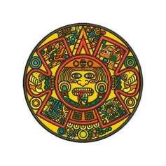 Calendario Azteca en Colores 20 cm. - Picajes para bordados