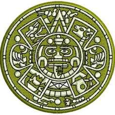 Aztec Calendar 6 cm. - Bordados