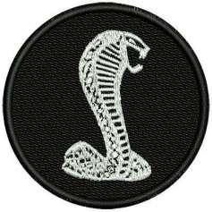Mustang Cobra emblem 6cm. - Bordados