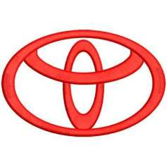 Toyota Emblema 11 cm. - Ponchado