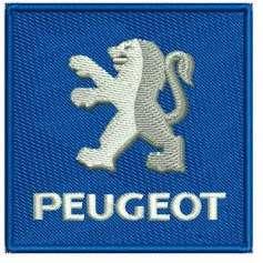 Automotive embroidery design PEUGEOT Logo