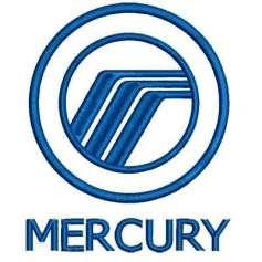 Automotive embroidery design MERCURY Logo